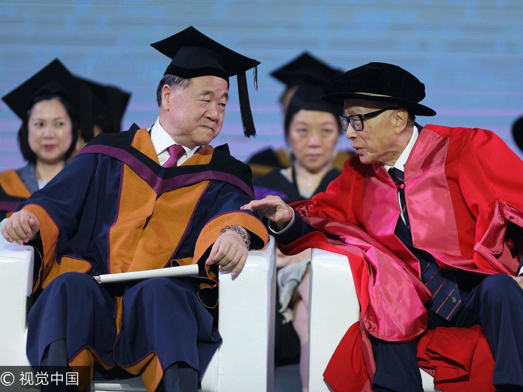 最高嘉宾规格的毕业演讲,89岁李嘉诚:一生志在千里,也知似水流年;莫言:马云也曾经没有什么了不起