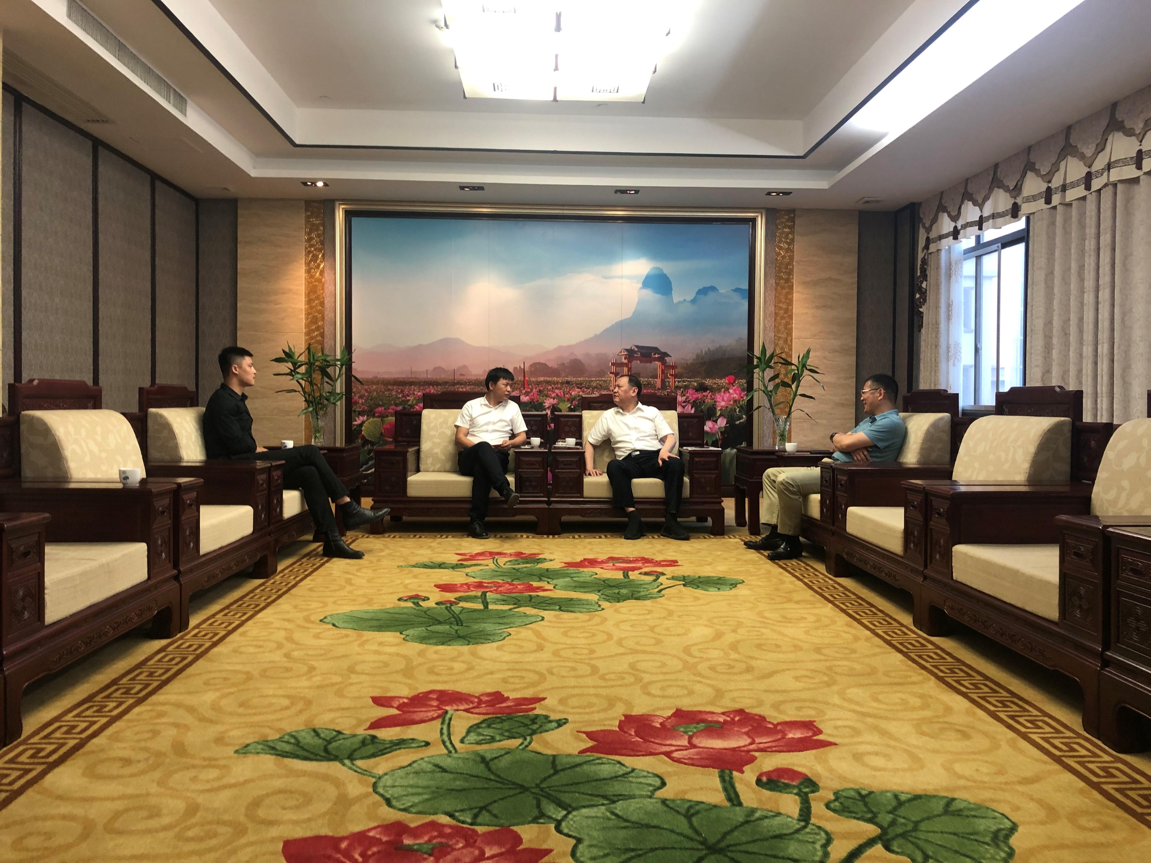 天道创服集团与石城县政府就地方产业打造发展展开合作洽谈