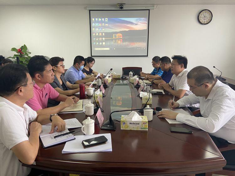 琼山区委副书记、区长王和娇与天道创服集团一行举行座谈