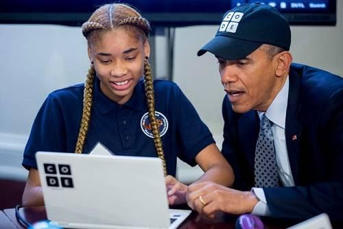 "【Jin句】奥巴马:""别总是充当消费者,试着去创造点什么。花上一个小时的时间,你就可以了解更多关乎我们生命一部分的科技"""