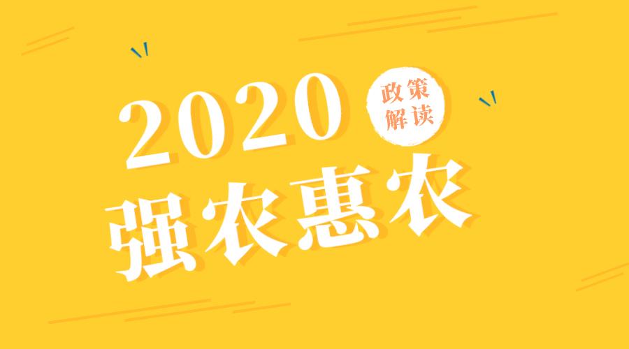 2020年强农惠农政策解读