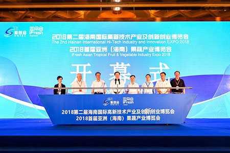 第二届海南国际高新技术产业及创新创业博览会开幕
